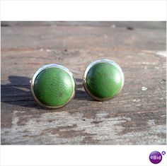 1970s vintage avocado green cuff links