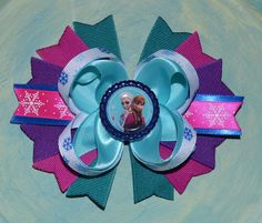 Disney Frozen Anna and Elsa Inspired Boutique Hair Bow