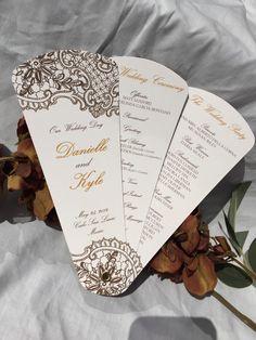Intricate Lace Design, Wedding Program Fans, Petal Fan Programs, Fan Programs - Intricate Lace by WeddingSophisticate on Etsy https://www.etsy.com/listing/231353198/wedding-program-fans-petal-fan-programs