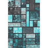 Found it at Wayfair - Tobis Modern Turquoise Area Rug