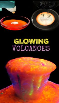 How to make glowing rainbow eruptions. Volcano science for kids. Science Experiments For Preschoolers, Science Activities For Kids, Mad Science, Preschool Science, Preschool Lessons, Science Lessons, Science Education, Science Projects, Preschool Activities