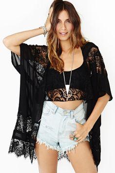 Desert Moon Lace Kimono Want