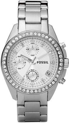 #Fossil #Watch , Fossil Women's ES2681 Stainless Steel Bracelet Black Glitz Analog Dial Chronograph Watch...$81.25