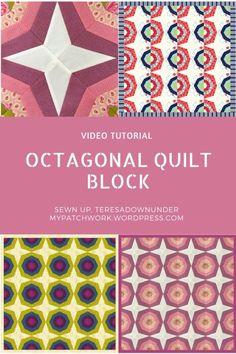 Video tutorial: Octagonal quilt block - easy foundation piecing