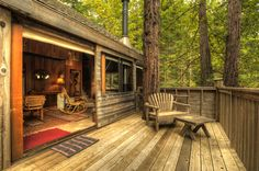 Cabin in the redwood treetops, Sonoma Valley, California posted on Forest Troll Walk-in via searanchescape.com
