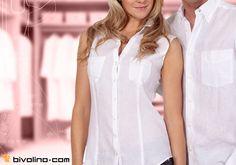 Maßgeschneiderte Bivolino Damenblusen aus Leinenstoff für den heißen Sommer. Maßgschneiderte Fashion Blusen. 100% Leinen.