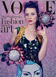 Mia Wasikowska for Vogue Australia March 2014 Ph. Emma Summerton via tfs Mia Wasikowska for AnOther S/S 14 (Full Editorial) Ph. Vogue Magazine Covers, Fashion Magazine Cover, Fashion Cover, Vogue Covers, Vogue Fashion, Fashion Art, Editorial Fashion, Vogue Editorial, Fashion Shoot