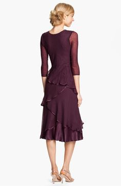Komarov Embellished Tiered Chiffon Dress | Nordstrom