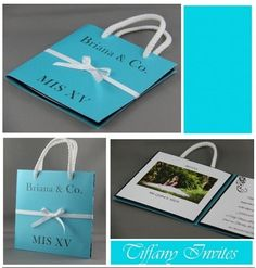 Invitaciones de XV Años » Tarjetas para Descargar e imprimir Gratis Tiffany, Candy, Work Nails, Free Printable Cards, Invitation Cards, Birthday Invitations, Candy Bars, Sweets