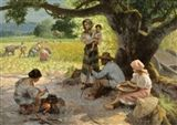Fernando Amorsolo - Family under the Mango Tree,... on MutualArt.com