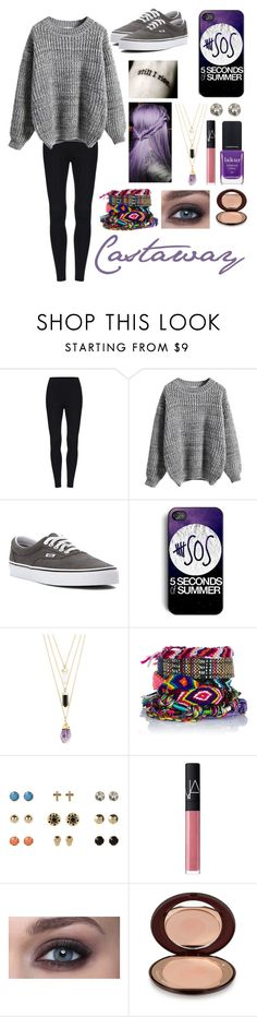 """""""Castaway"""" by sammierock ❤ liked on Polyvore featuring WithChic, Vans, Forever 21, River Island, NARS Cosmetics, Charlotte Tilbury and Londontown"""