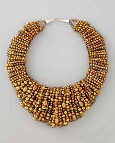 ShopStyle: Nakamol Beaded Collar Necklace