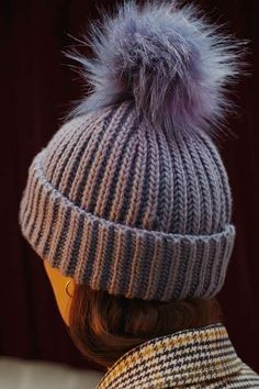 Give your layered look a colour pop with this cool blue beanie hat. The faux fur pom-pom is adds a luxe touch. #Topshop