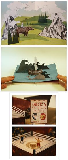 awesome pop-up dioramas by Owen Gatley