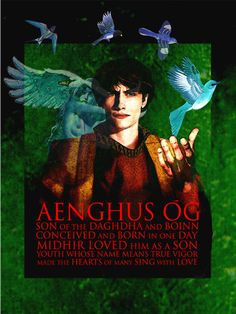"In Old Irish his name is spelled Oíngus or Óengus [oiŋɡus], from Proto-Celtic *oino- ""one"" and gus ""strength"" (or possibly ""choice""). In Middle Irish this became Áengus, and in Modern Irish Aengus or Aonghus [ˈeːŋɡəsˠ], [ˈeːŋɣəsˠ]. Epithets include Óengus Óc/Aengus Óg (""Aengus the young""), Mac ind Óg (""son of the young""), Mac Óg (""young son"") and Maccan."