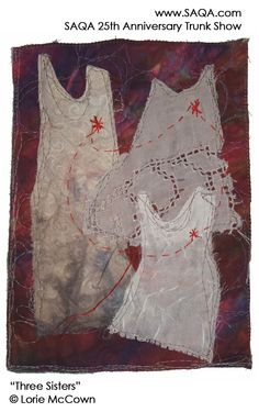Art quilt by Lorie McCown #artquilts #SAQA