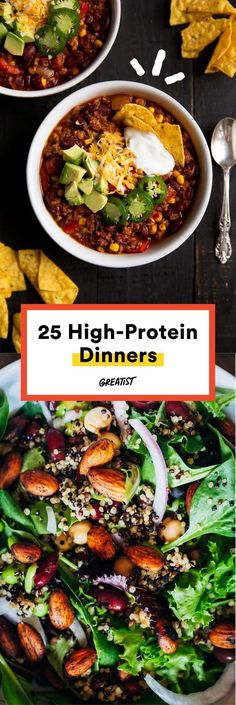 We're talking at least 20 grams per serving. #highprotein #meals http://greatist.com/eat/high-protein-meals-that-dont-involve-chicken