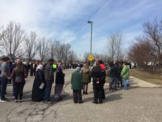 """Jonathan Oosting on Twitter: """"Another big line for Bernie Sanders in Dearborn #notmeus"""