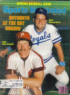Mike Schmidt, Philadelphia Phillies & George Brett, Kansas City Royals    MLB Hall of Fame 3rd Basemen