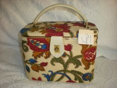 Vintage Celebrity Brand Makeup/Train Case with by BarbeeVintage, $45.00