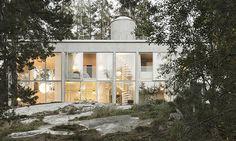 Six Walls House uprostřed lesů tvoří jen šest stěn
