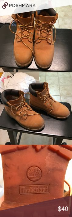 💖TIMBERLANDS💖 Everything must go! Make an offer! 🖤 bought on Poshmark and they were too big! Never worn by me but definitely well-loved by previous owner. Fits more like a 6.5 Timberland Shoes Ankle Boots & Booties