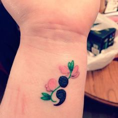 Semicolon Tattoos are awesome. So, In this article, we will cover everything related to Semicolon Tattoos and will give you semicolon tattoo designs. Arm Tattoo, Tattoo Motive, Wrist Tattoos, Get A Tattoo, Cute Tattoos, Beautiful Tattoos, Flower Tattoos, Body Art Tattoos, Small Tattoos