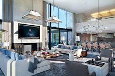 En todos los espacios interiores, la paleta cromática es neutra. Classy Living Room, Cute Living Room, New Living Room, Living Room Decor, Living Spaces, Studio Living, Architectural Digest, Interior Architecture, Interior Design