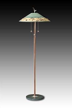Copper Floor Lamp with Large Conical Shade in Paradise Pool by ...