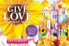 Send a Friend a Mother's Day Card with a Free Gift from Bath & Body Works via Facebook – Canada and US