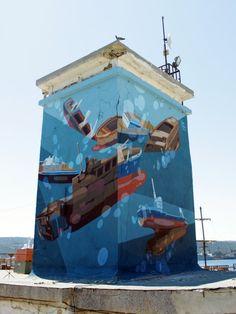 SatOne – Prisoners of The Sea (2) New Mural @ Varna, Bulgaria
