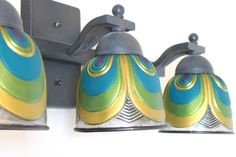 DIY Peacock Design Painted Light Fixture