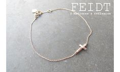#Feidtbijoux #bracelet #croix #orrose 9 carats #cross #rosegold #9k