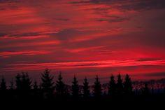 Prachtige sunset op 27 december. Foto: Marinus de Keijzer.