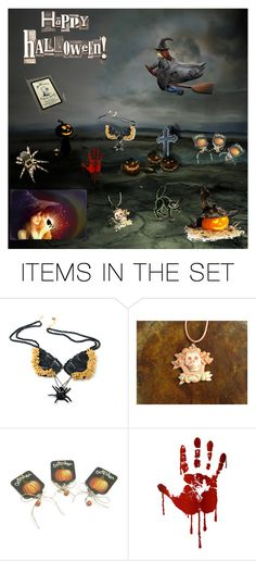 """""""Scary Night"""" by arlenesboutique on Polyvore featuring art"""