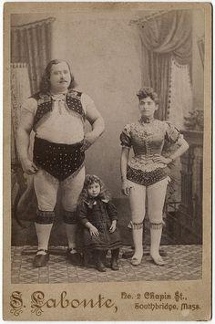 """Louis Cyr""(1863- 1912)  -World's Strongest Man-   Samson-/little BAMBAM and Delilah……"