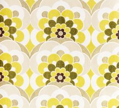 Vintage wallpaper flowers from Retro Villa (via decor8, complete with awesome music pairings! http://decor8blog.com/2011/06/01/vintage-wallpaper-music-to-make-you-smile/)