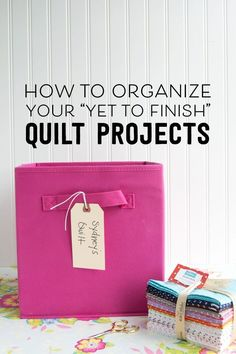 Best Diy Crafts Ideas Great ways to organize your sewing and quilting works in progress. -Read More – Quilting Tips, Quilting Tutorials, Quilting Projects, Quilting Designs, Sewing Tutorials, Quilting Room, Quilting Patterns, Sewing Hacks, Sewing Crafts
