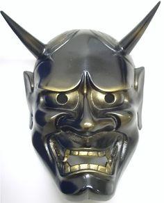 Iron Japanese Noh Mask: Hannya