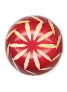 Vintage Red and White Celluloid Button