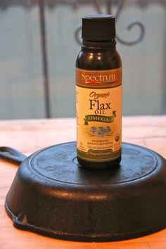 Season cast iron the proper way!  Use Flax seed oil, it creates a more durable seasoning...