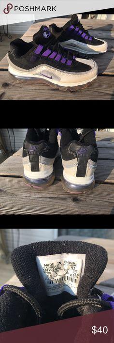a74a0b9beac590 Nike Air Max 24-7 Black Violet 397292-002 SZ 5.5 Nike Air