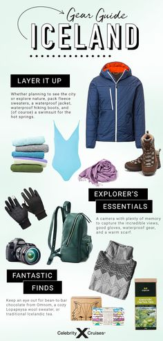 Stay warm in Iceland with these items. Cruise Packing Tips, Packing Lists, Best Gloves, Cruise Destinations, Shore Excursions, European Vacation, What To Pack, Waterproof Boots, Stay Warm