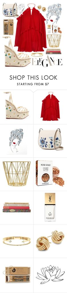 """""""Simply dressed #11"""" by dare2be-differen ❤ liked on Polyvore featuring Charlotte Olympia, Alice McCall, NOVICA, French Connection, ferm LIVING, Yves Saint Laurent, Delfina Delettrez, Saks Fifth Avenue, Brika and Brewster Home Fashions"""