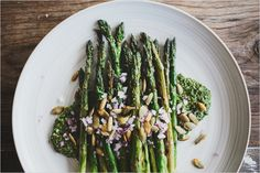 GRILLED ASPARAGUS PLATE + CILANTRO PEPITA PESTO - SPROUTED KITCHEN - A Tastier Take on Whole Foods