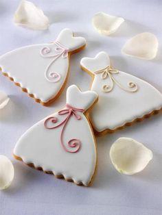 Wedding dress cookies :)
