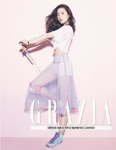 Hwayoung turns heads as she shows some skin in workout gear for 'Grazia'   allkpop.com