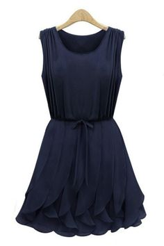 Ruffled Sleeveless Chiffon Dress OASAP.com $29.93, less sketchy website than sheinside.com