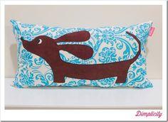 Dachshund Applique Pillow tutorial & Printable Template
