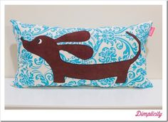 Dimplicity - Crafty Blog: Dachshund Applique Pillow Tutorial & Template